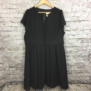ModCloth Sheer Black Dress Size 2X